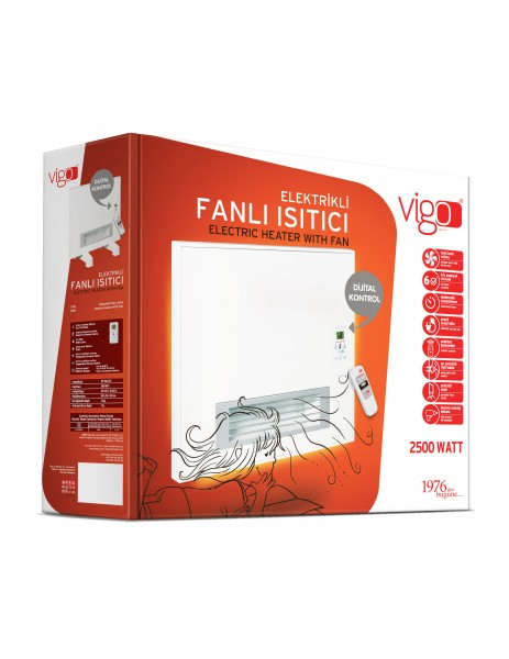 Vigo Fanlı Panel Isıtıcı