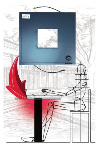 Kuas masa altı infrared ısıtıcı Confortable  elektrikli ısıtıcı  300 watt (560x560x20)