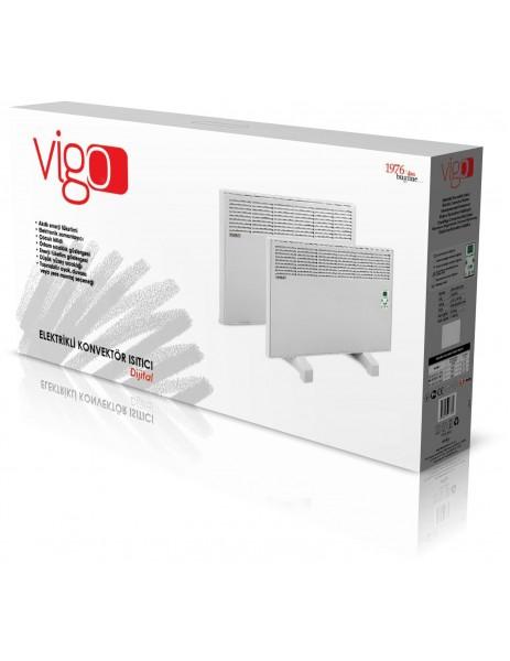 Vigo EPK4570E10B Vigo Elektrikli Panel Konvektör Isıtıcı Dijital 1000 Watt Beyaz