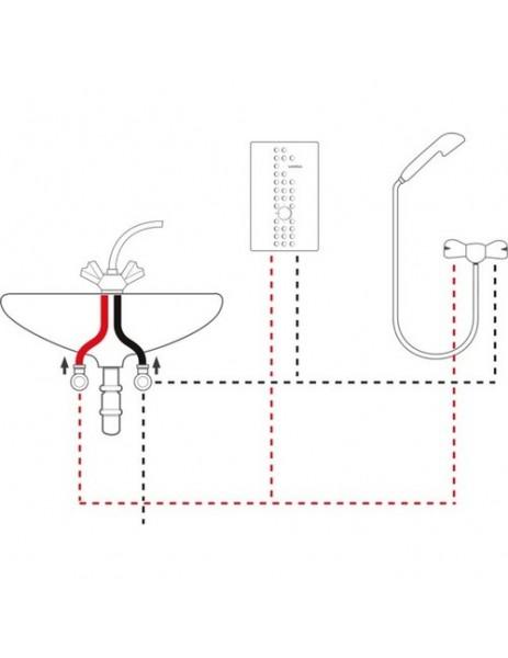 Veito Flow Ani Su Isıtıcı 10500 W (Monofaze) Merkezi sistem, Üç kademeli 10.5 kW